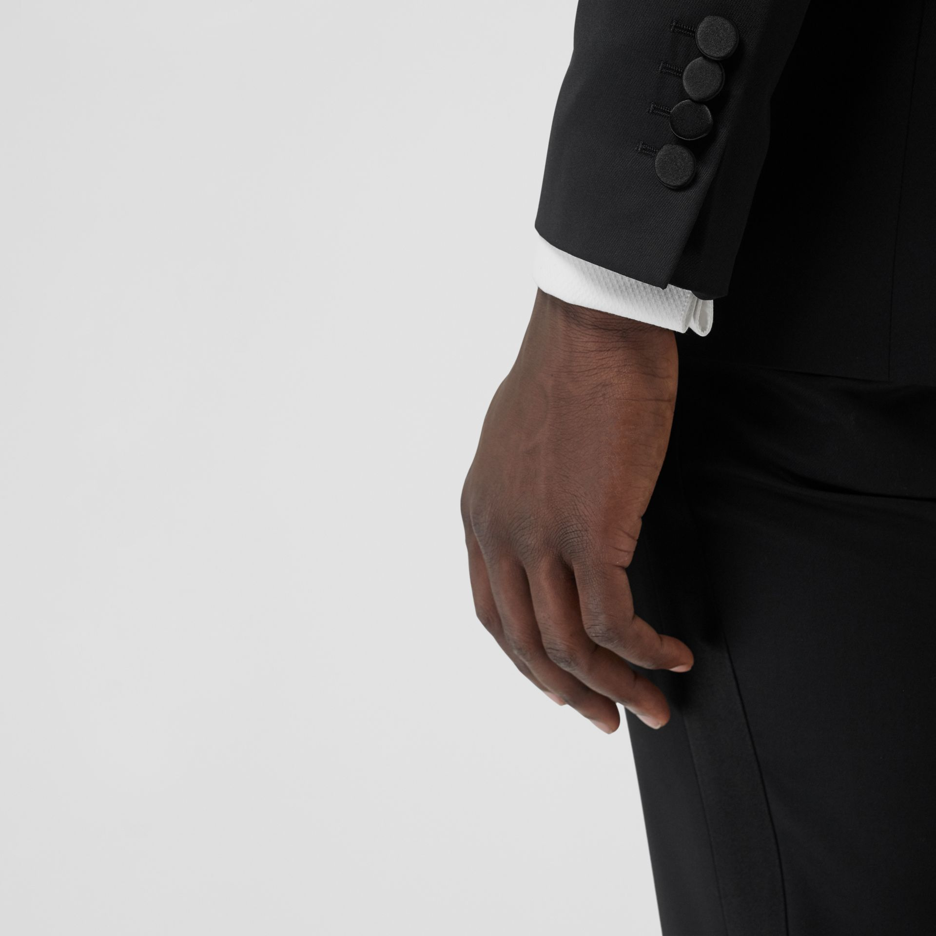 Classic Fit Wool Silk Tuxedo in Black - Men | Burberry United States - gallery image 4