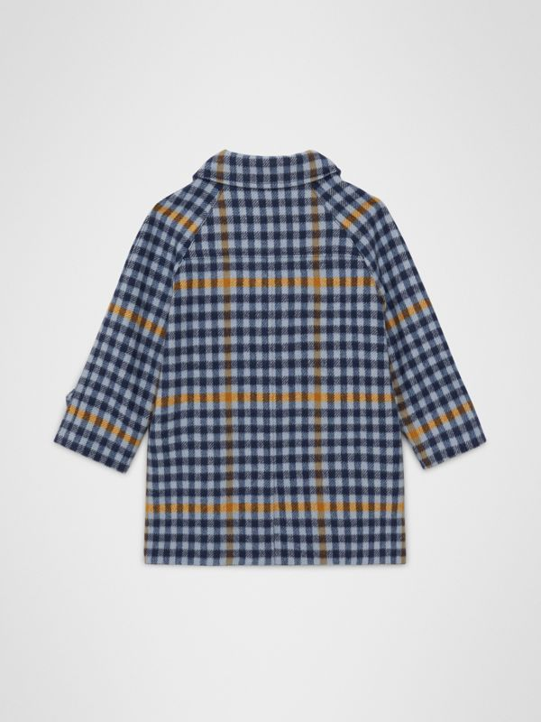 Check Wool Car Coat in Canvas Blue - Children | Burberry Hong Kong - cell image 3
