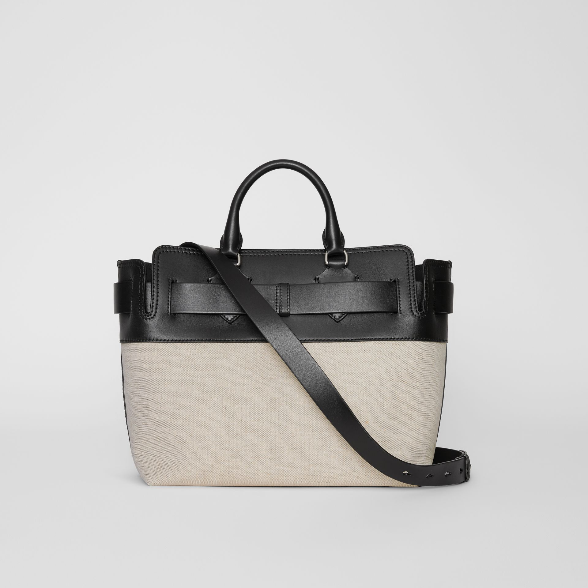 The Medium Canvas and Leather Belt Bag in Black/stone - Women | Burberry - gallery image 8