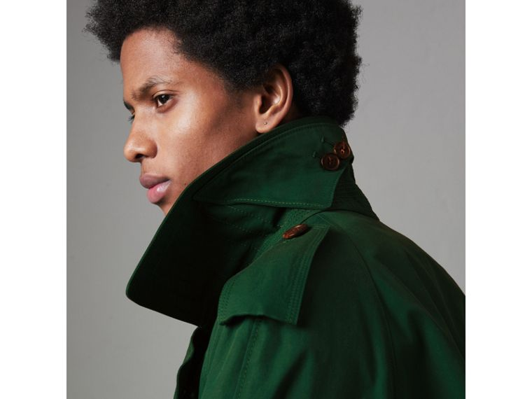 Gun-flap Detail Cotton Gabardine Trench Coat in Deep Veridian Green - Men | Burberry - cell image 4