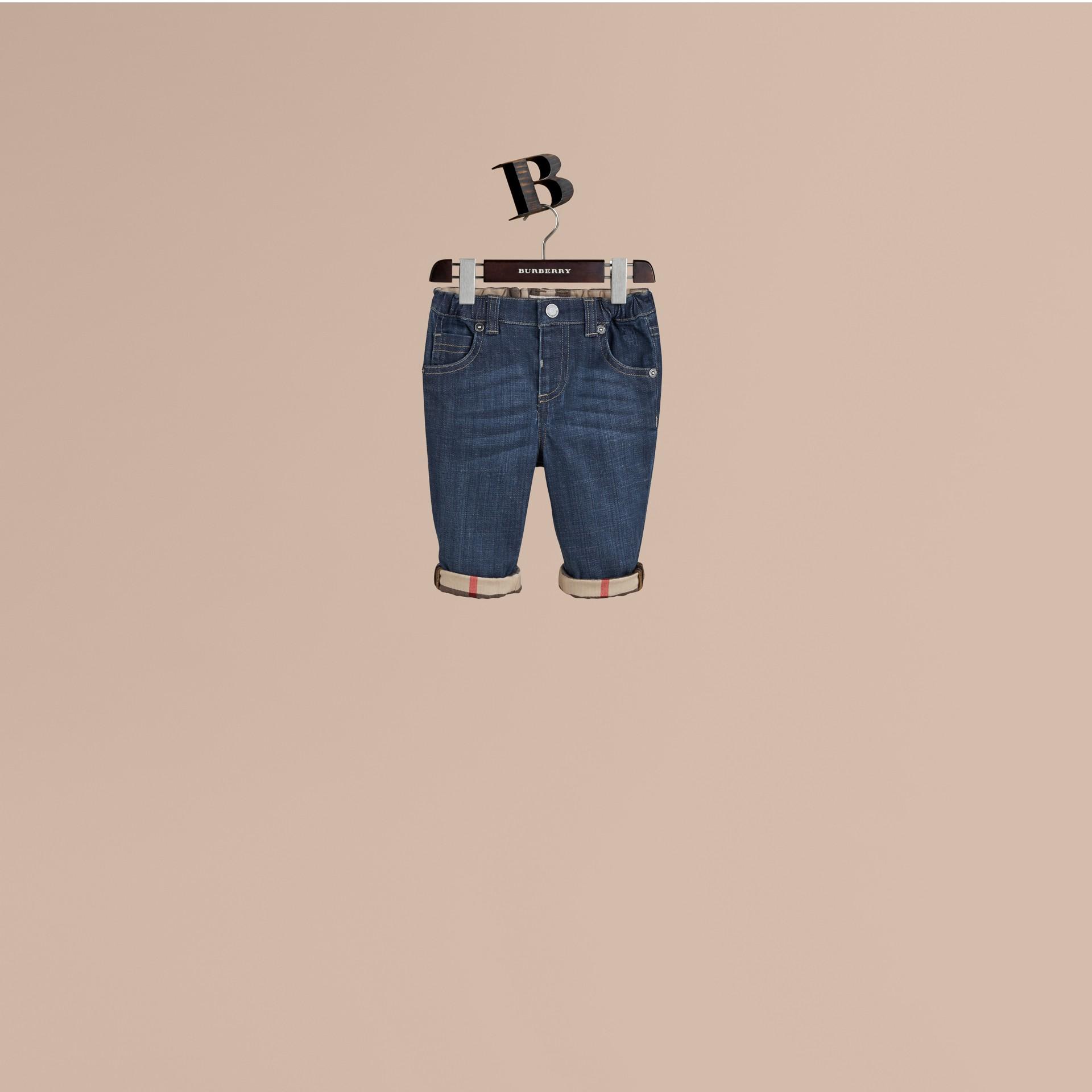 Blu Jeans in denim stretch - immagine della galleria 1