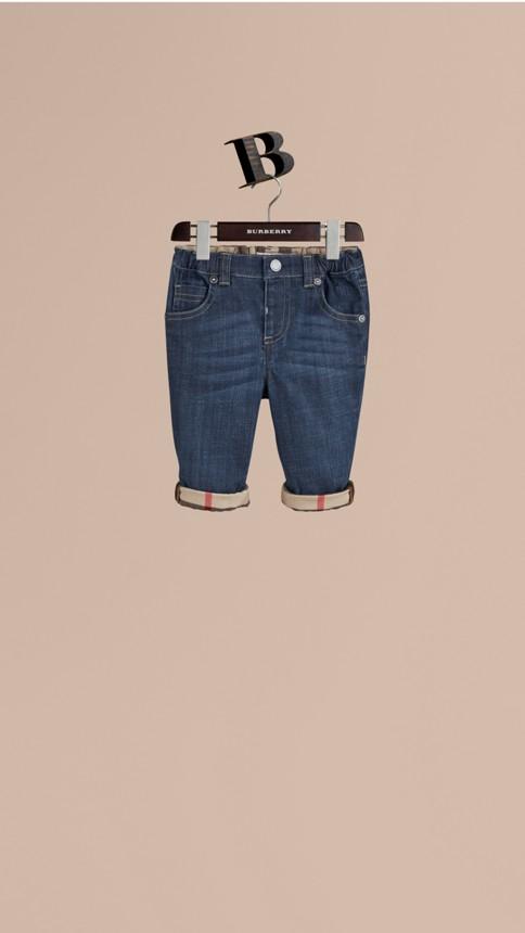 Bleu Jean en denim extensible - Image 1