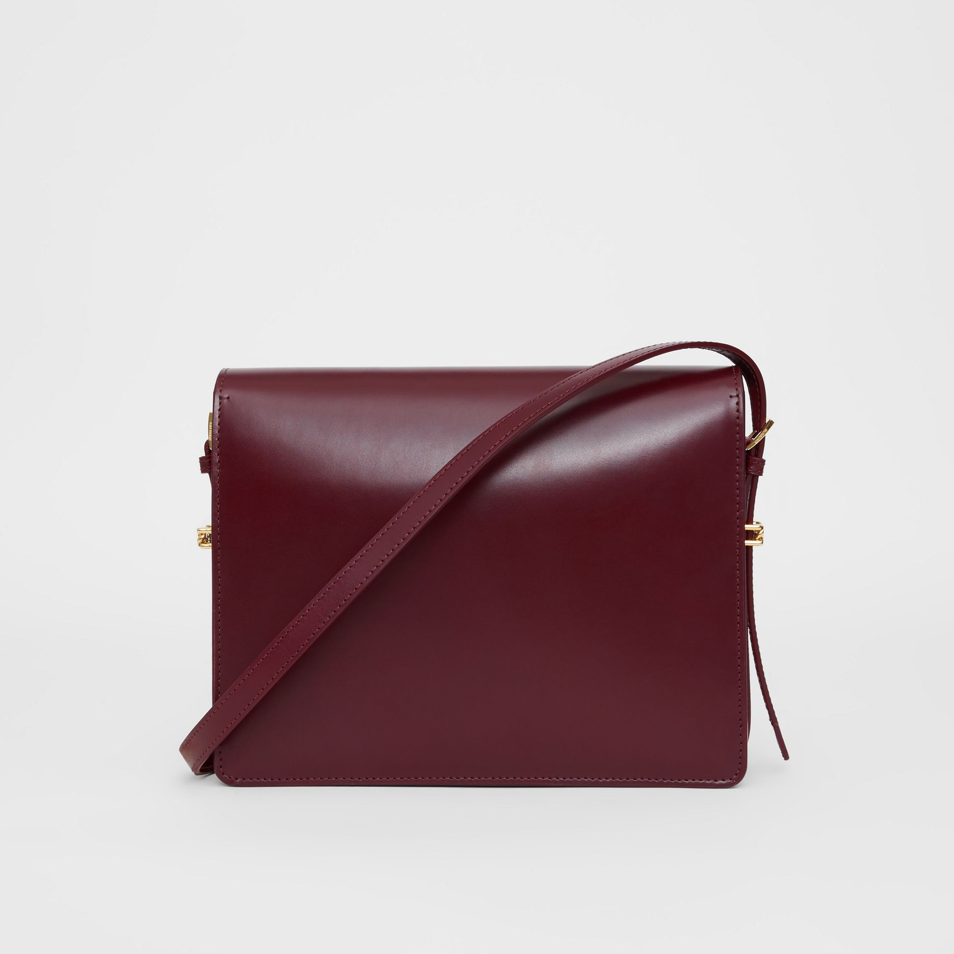 Grand sac Grace en cuir bicolore (Oxblood/rouge Militaire Vif) - Femme | Burberry - photo de la galerie 7