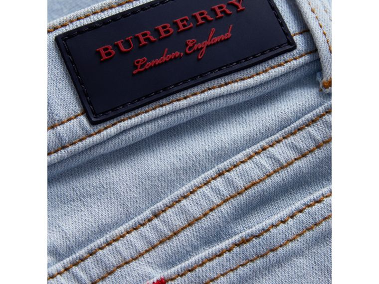 Skinny Fit Stretch Jeans in Light Blue - Girl | Burberry - cell image 1