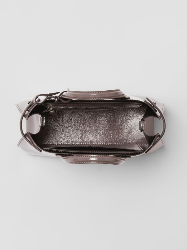 The Small Soft Leather Banner in Sepia Grey - Women | Burberry - cell image 3