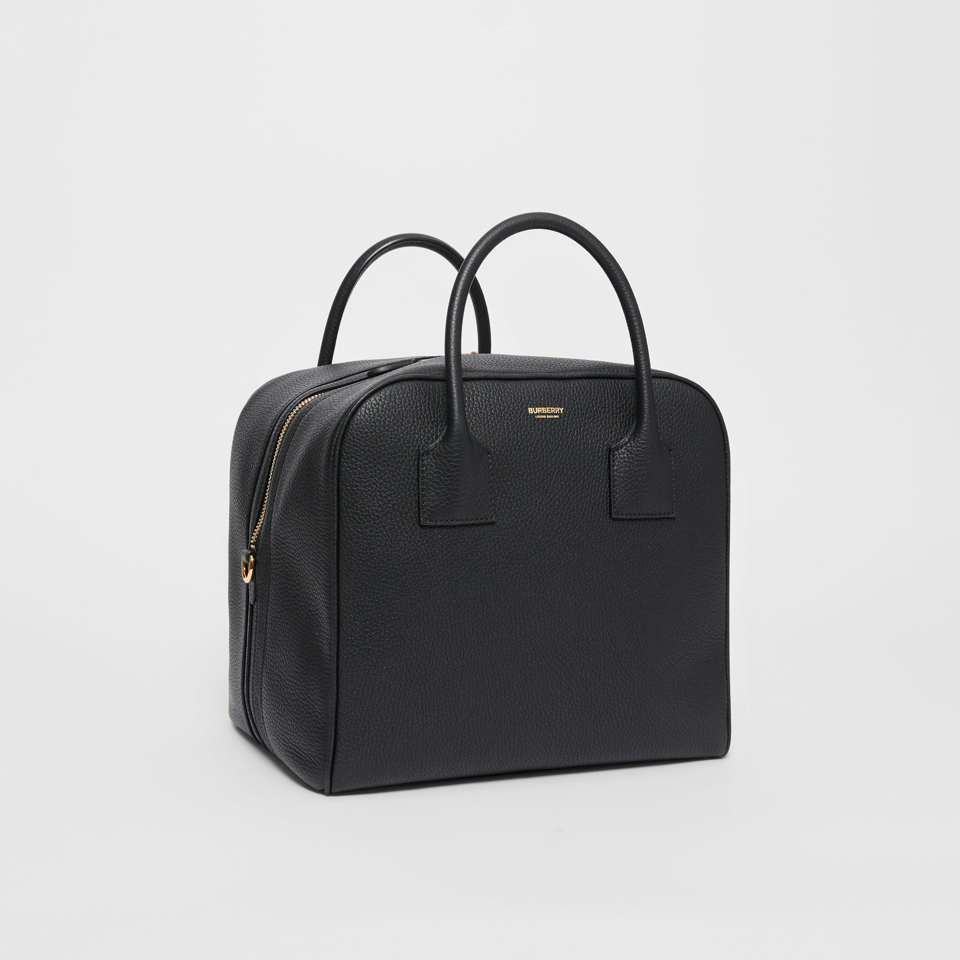 Medium Leather Cube Bag in Black - Women | Burberry Australia - gallery image 6