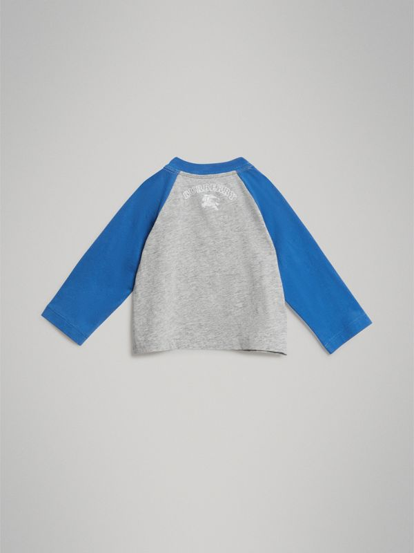 Thomas Bear Raglan-sleeve Cotton Top in Grey Melange - Children | Burberry Canada - cell image 3