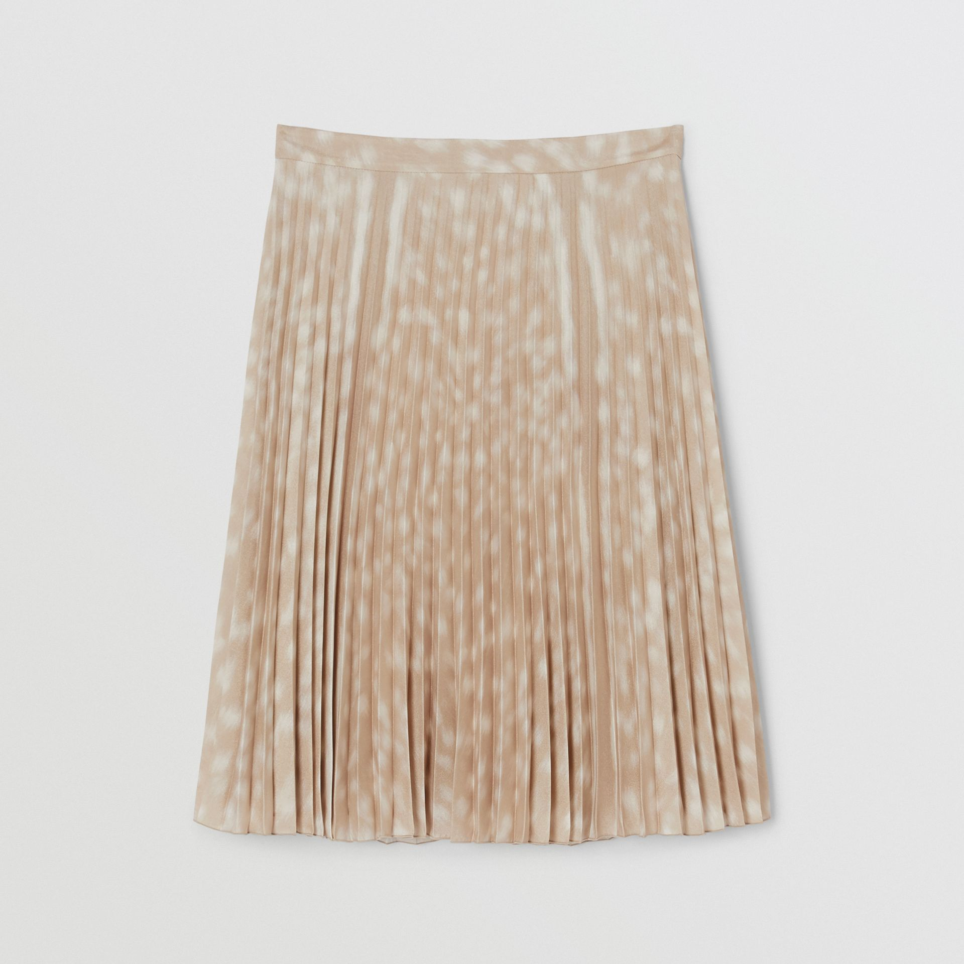 Deer Print Pleated Skirt in Soft Fawn - Women | Burberry - gallery image 3