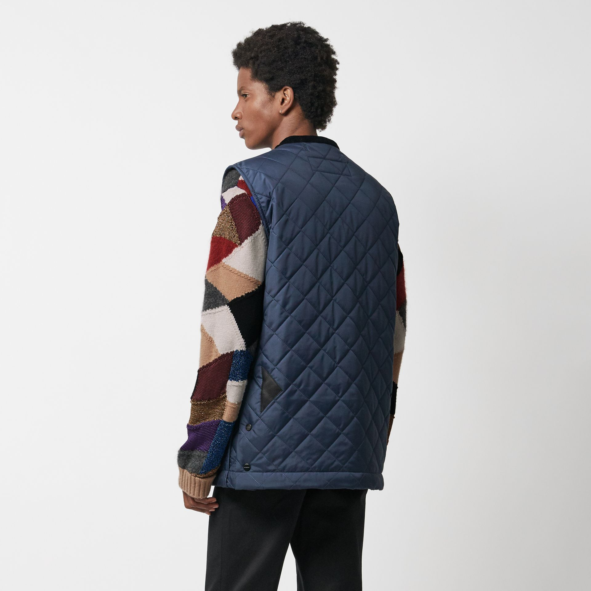 Diamond Quilted Gilet in Bright Navy - Men | Burberry Singapore - gallery image 2