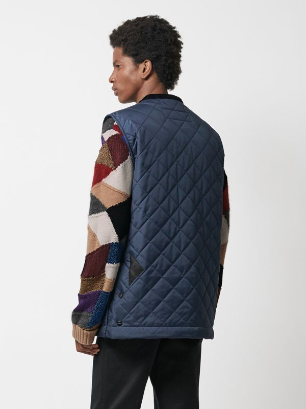 Diamond Quilted Gilet in Bright Navy - Men | Burberry Singapore - cell image 2