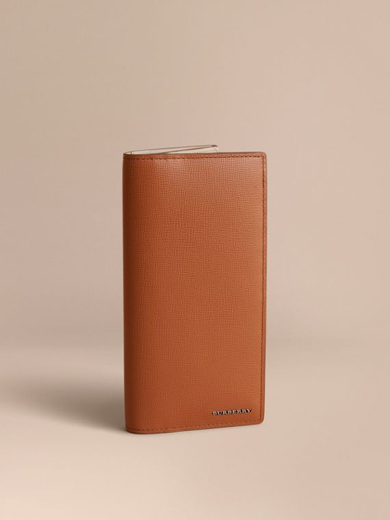 London Leather Continental Wallet in Tan