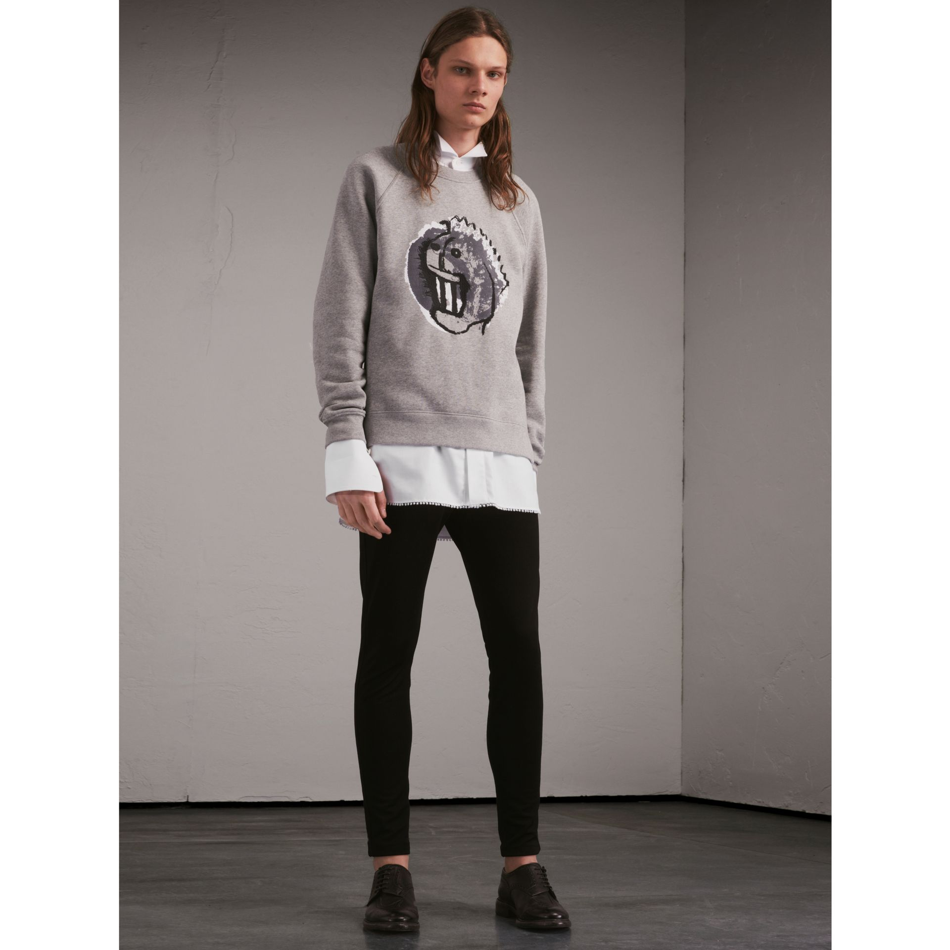 Unisex Pallas Heads Motif Sweatshirt - Men | Burberry - gallery image 7