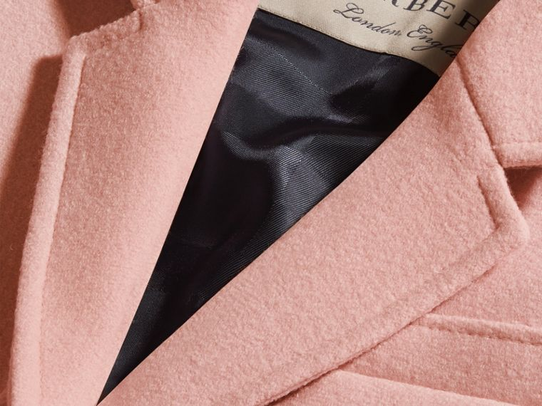 Chalk pink Boiled Wool Tailored Coat - cell image 1