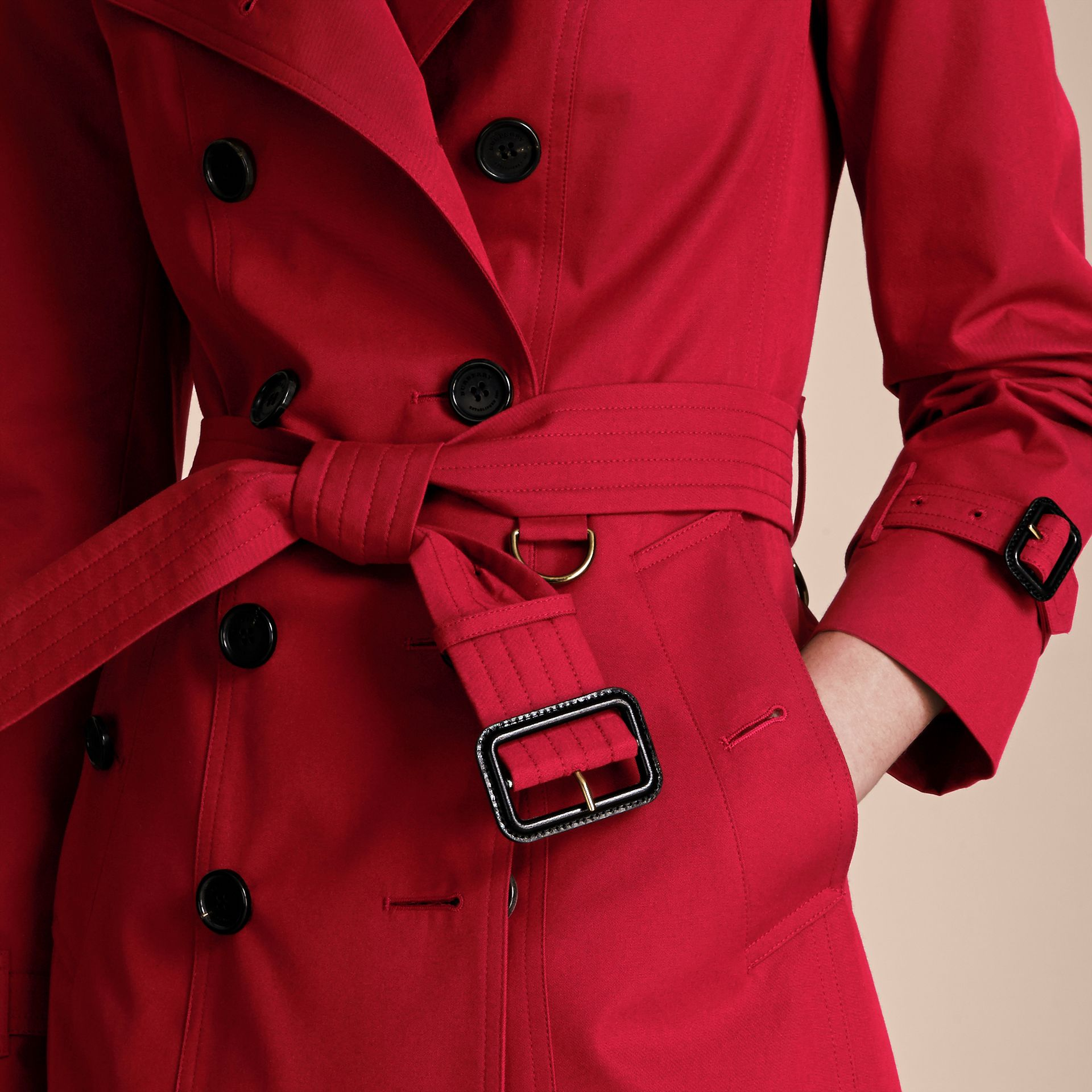 Parade red The Sandringham – Mid-length Heritage Trench Coat Parade Red - gallery image 5