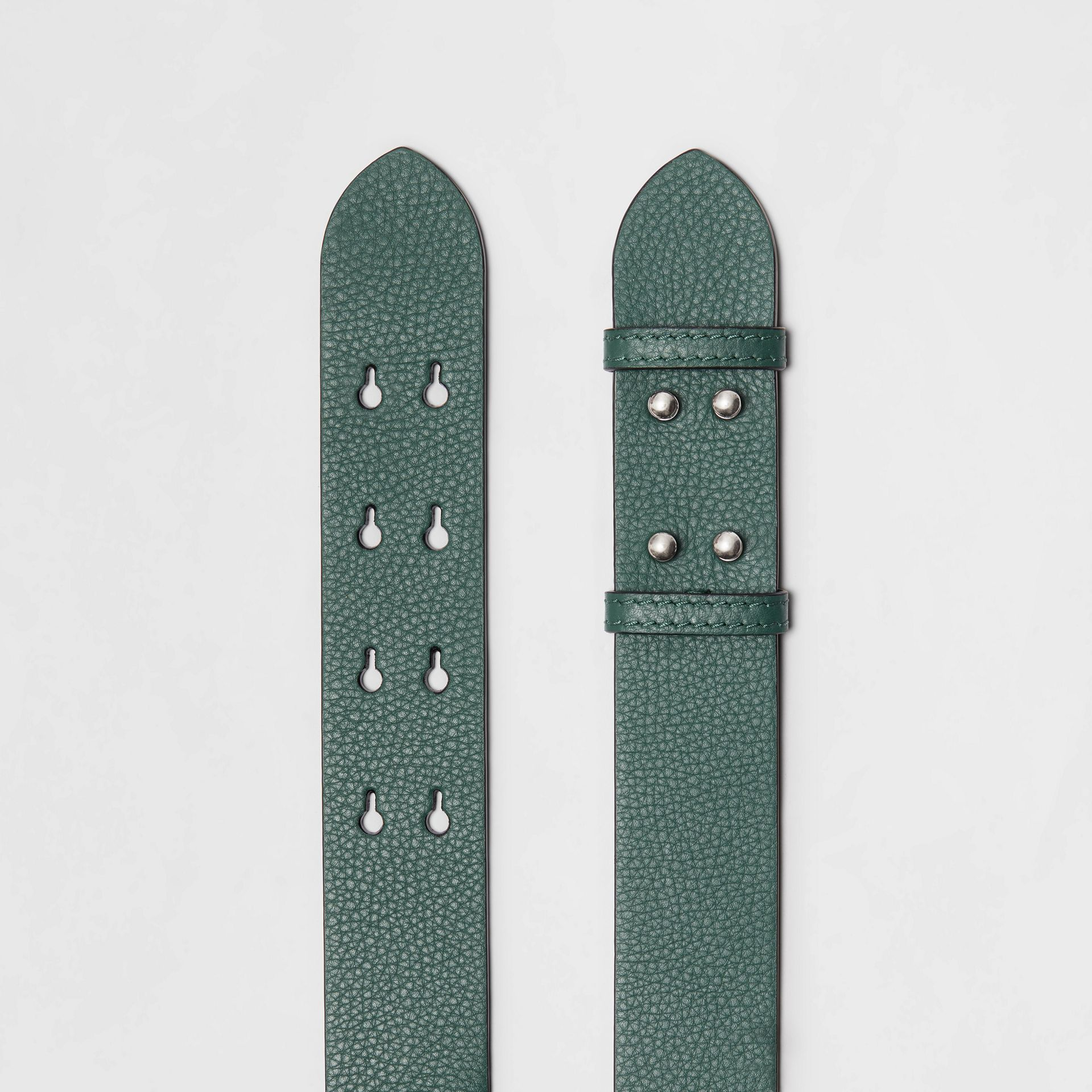The Medium Belt Bag Grainy Leather Belt in Sea Green - Women | Burberry - gallery image 2
