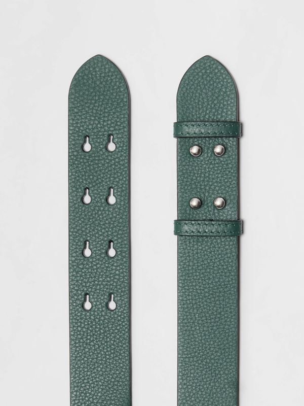 The Medium Belt Bag Grainy Leather Belt in Sea Green - Women | Burberry - cell image 2