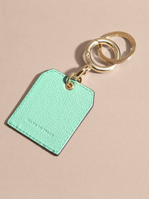 Grainy Leather Key Charm in Light Mint - Women | Burberry - cell image 3