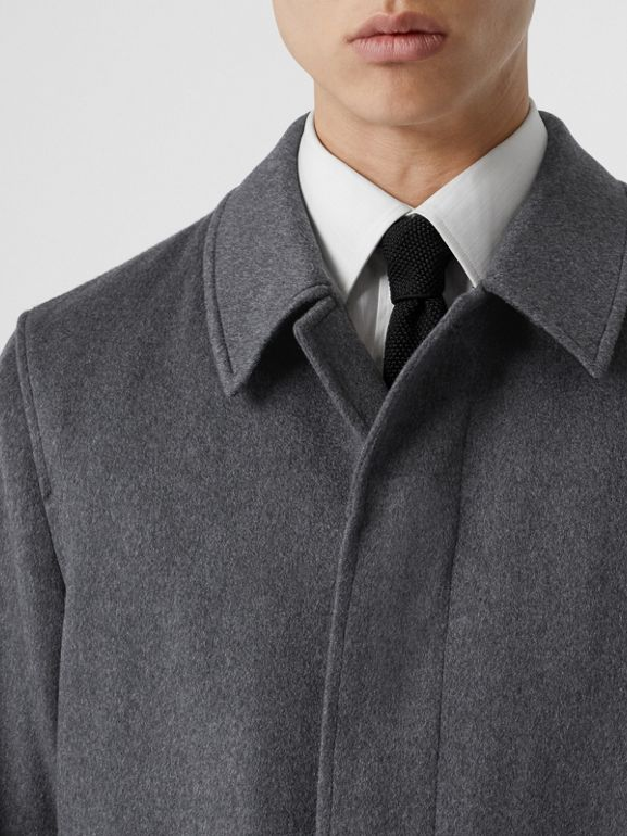 Cashmere Car Coat in Pewter Melange - Men | Burberry - cell image 1