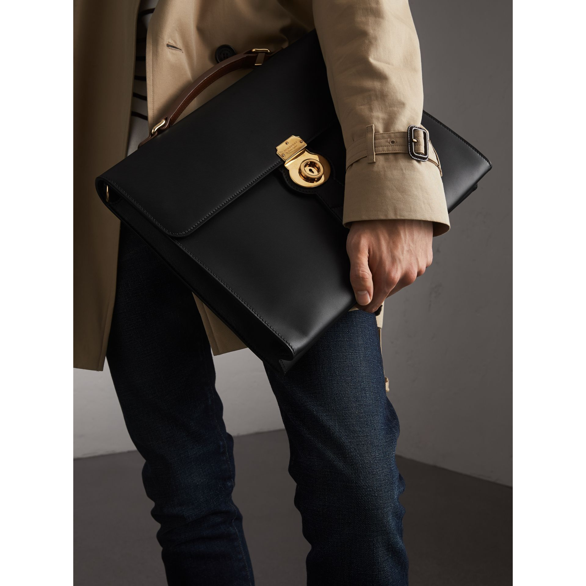 The Large DK88 Document Case in Black - Men | Burberry United States - gallery image 3