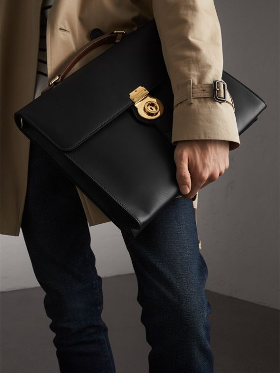 The Large DK88 Document Case in Black - Men | Burberry United States - cell image 3