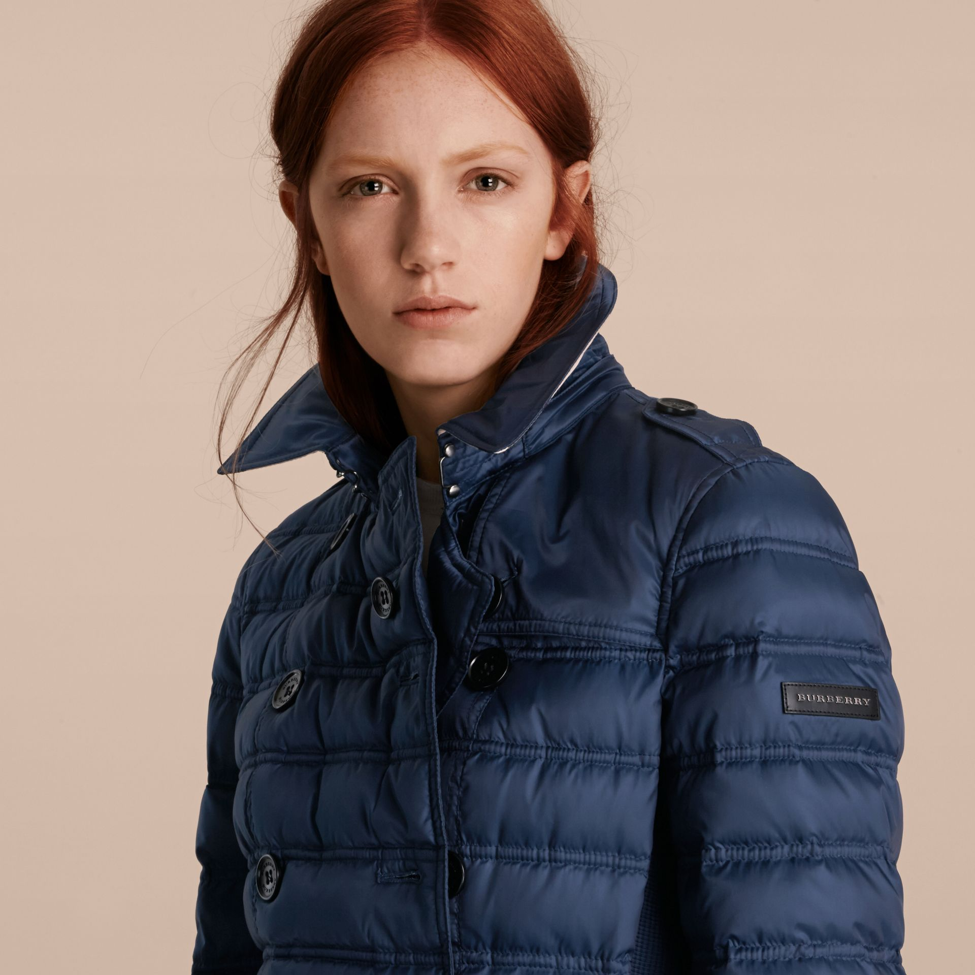 Down-filled Puffer Coat in Bright Navy - gallery image 5