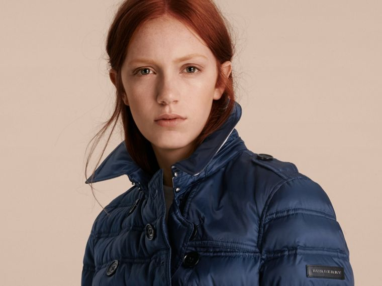 Bright navy Down-filled Puffer Coat Bright Navy - cell image 4
