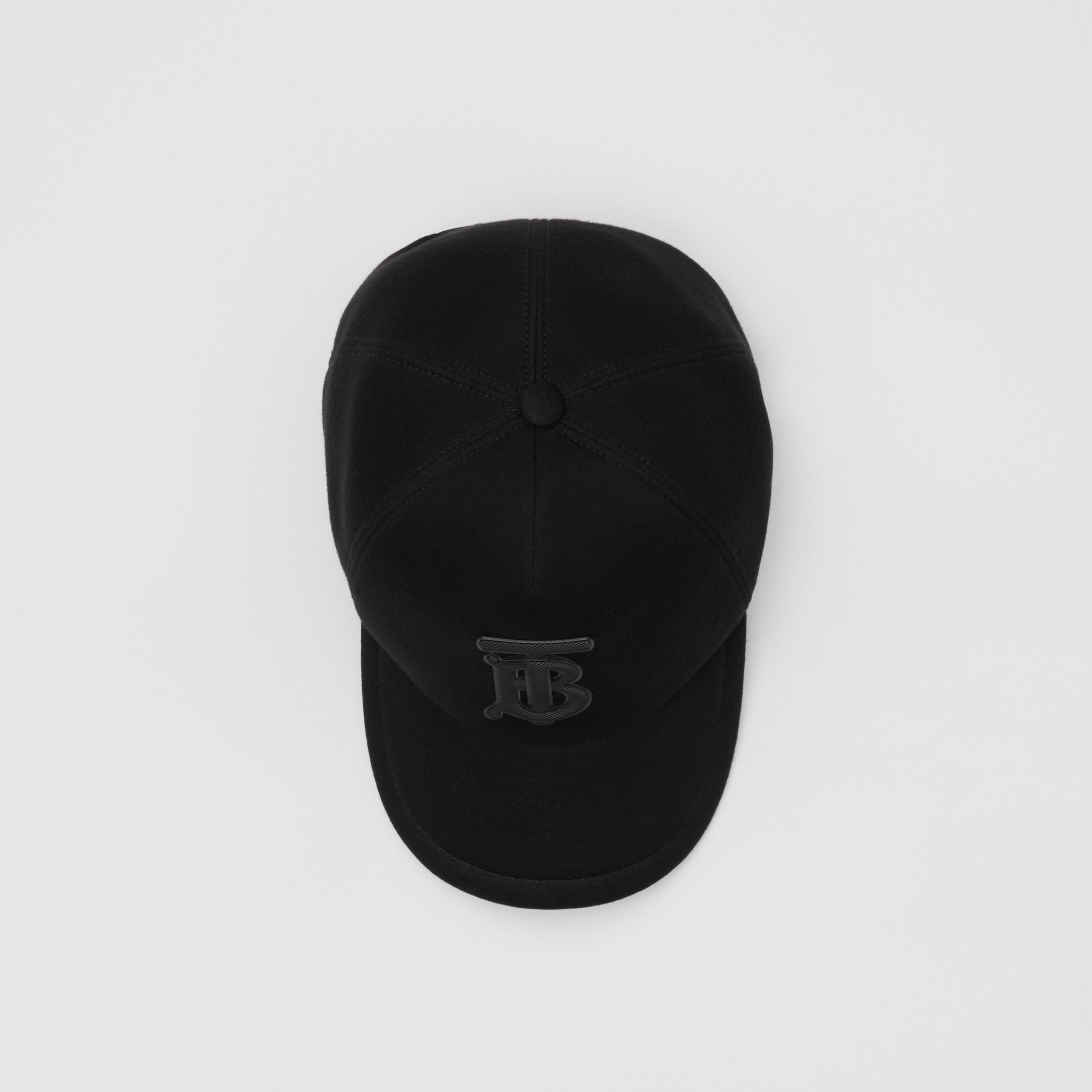 Monogram Motif Neoprene Baseball Cap in Black | Burberry - 1