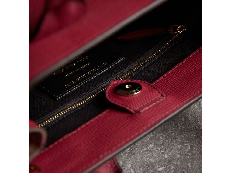The Small Banner in Leather and House Check in Russet Red - Women | Burberry Canada - cell image 4
