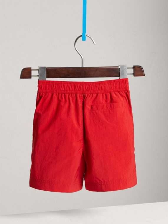 Lightweight Swim Shorts in Military Red - Boy | Burberry - cell image 3