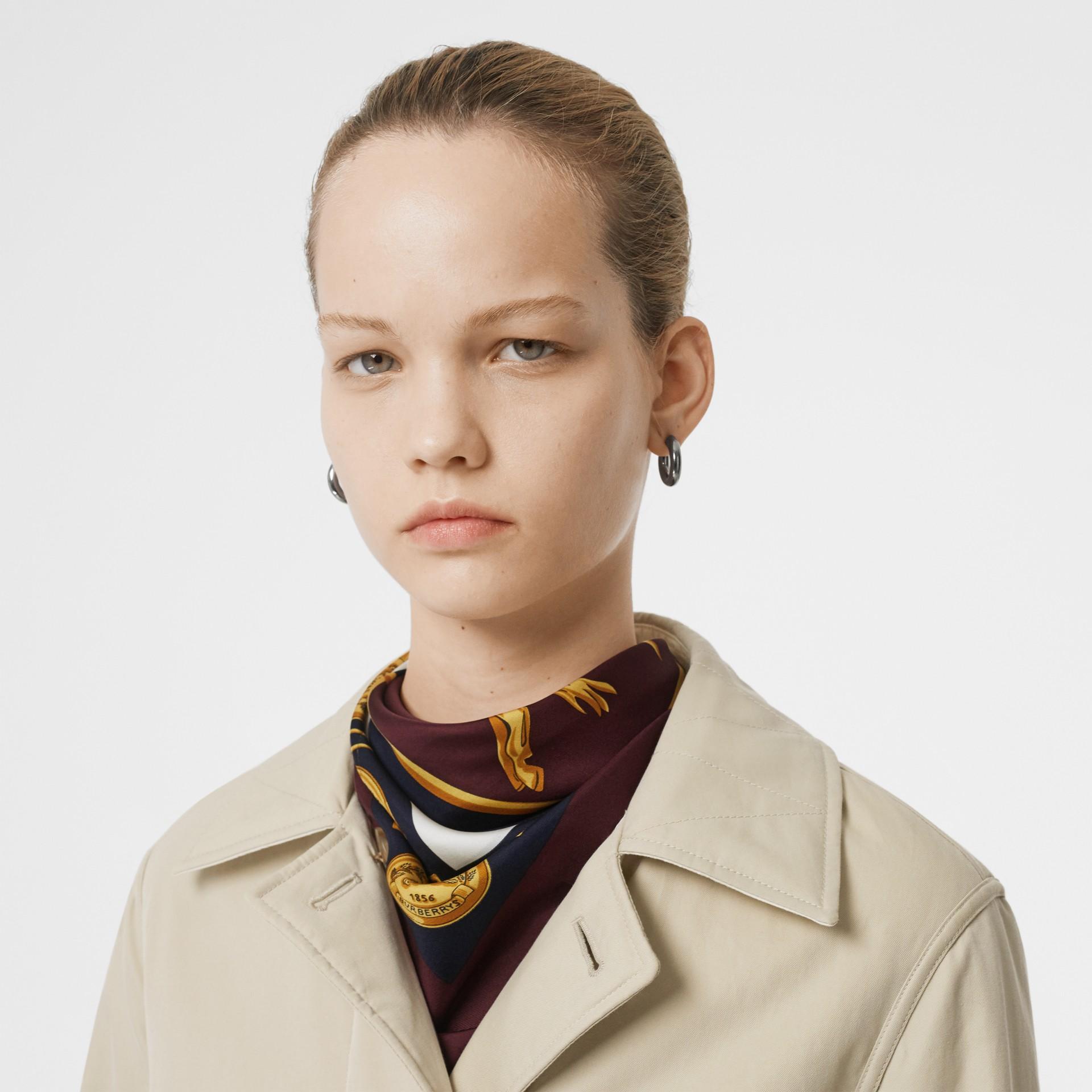 Giacca reversibile in cotone trapuntato (Bianco Naturale) - Donna | Burberry - immagine della galleria 1