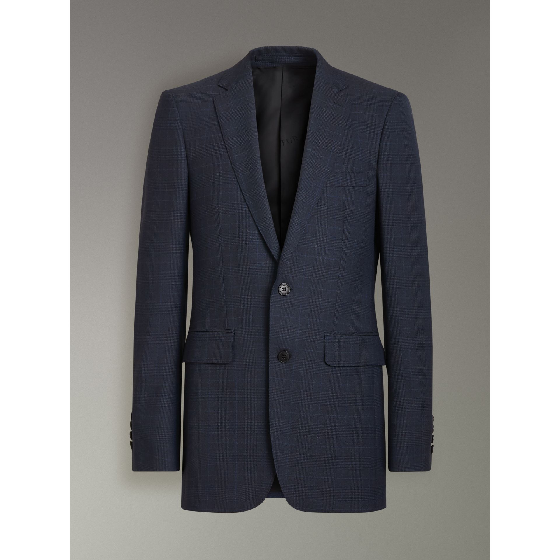 Modern Fit Check Wool Three-piece Suit in Bright Navy - Men | Burberry - gallery image 3