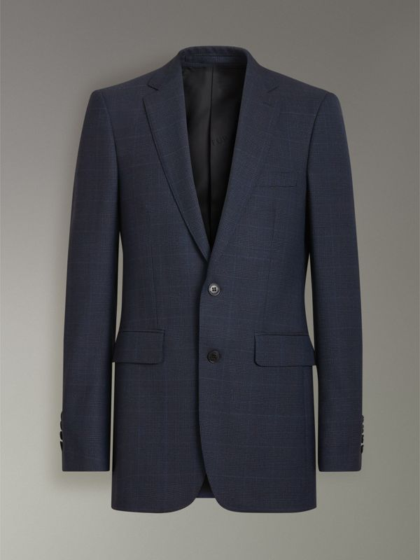 Classic Fit Check Wool Three-piece Suit in Bright Navy - Men | Burberry - cell image 3