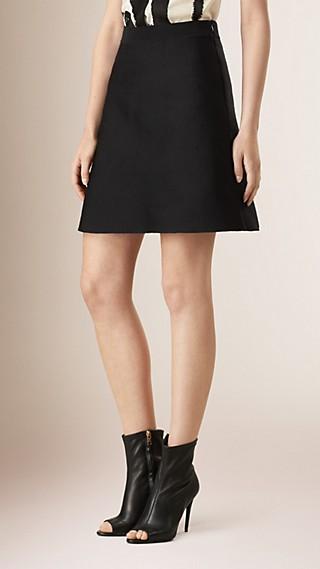 Technical Silk A-line Skirt