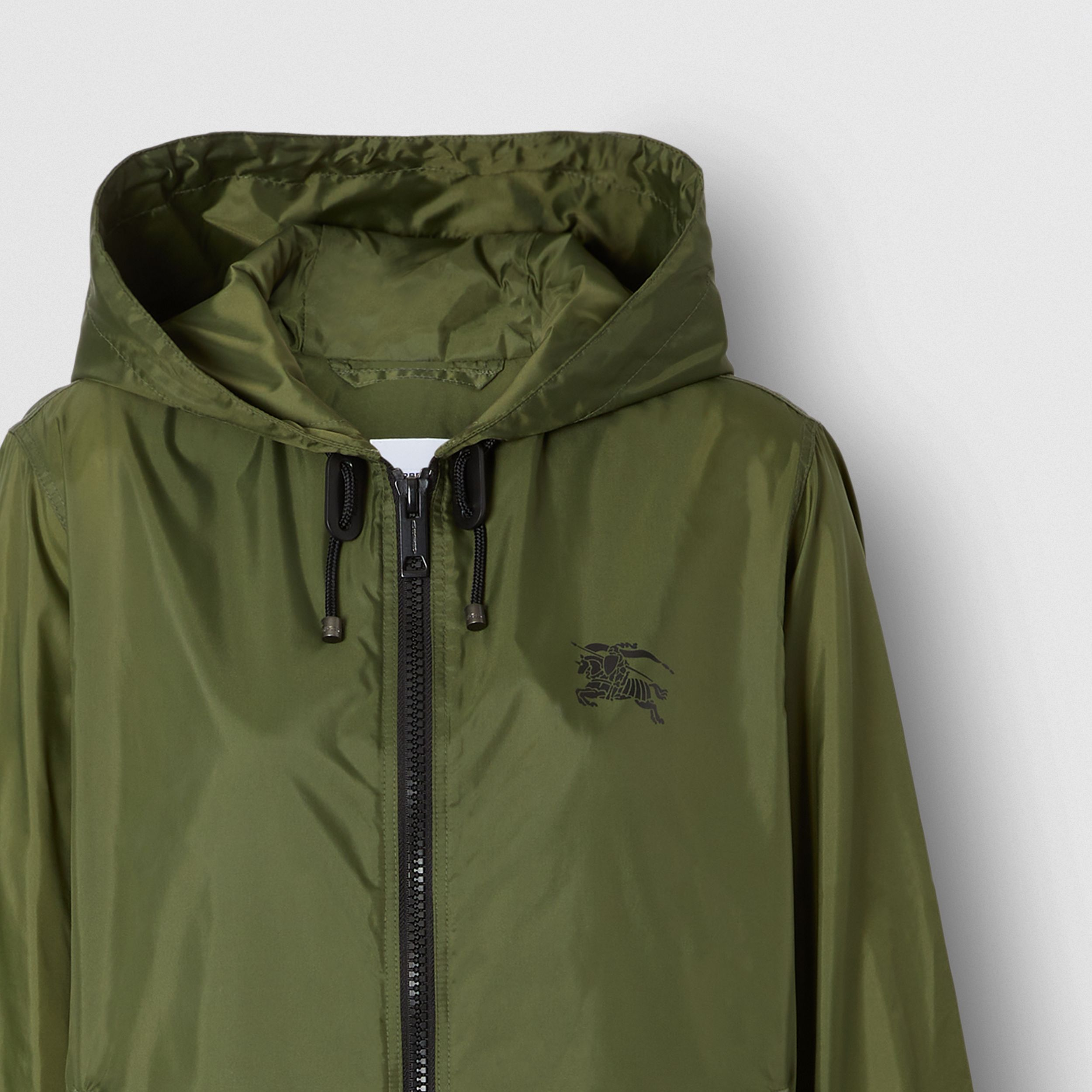 Equestrian Knight Device Nylon Hooded Jacket in Light Olive | Burberry - 2
