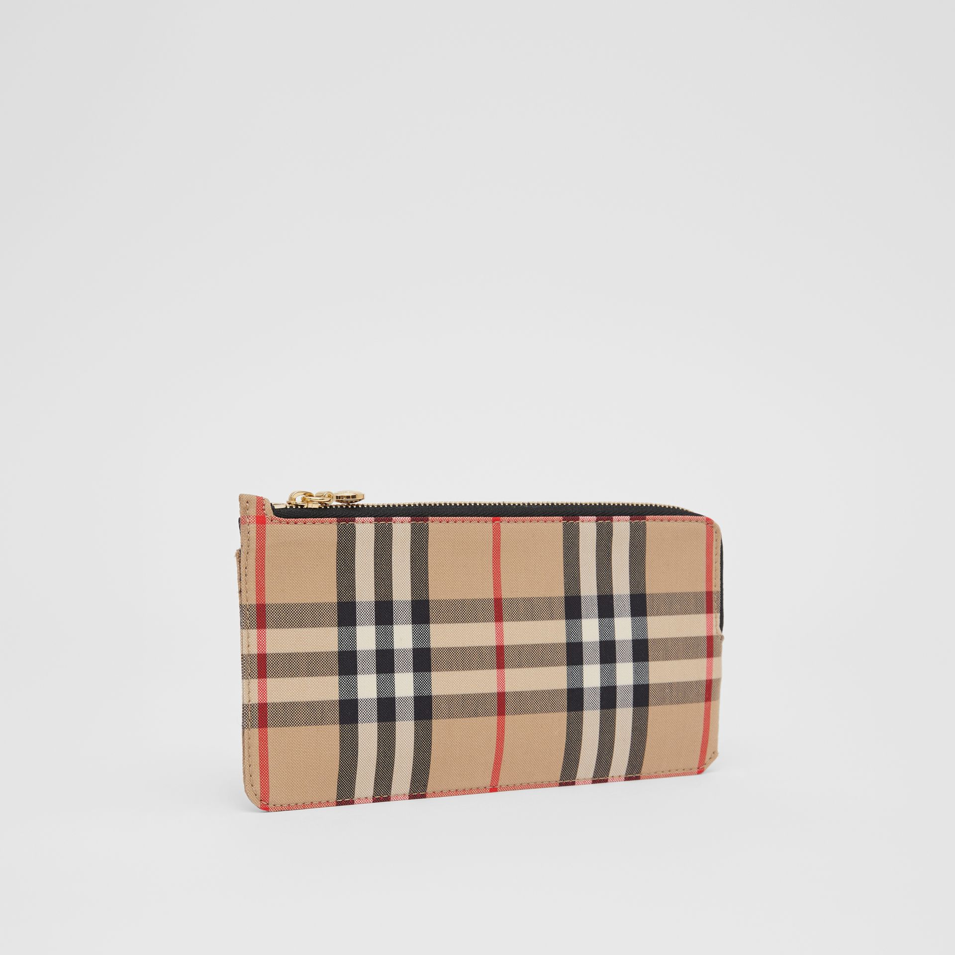 Vintage Check and Leather Phone Wallet in Black - Women | Burberry - gallery image 3