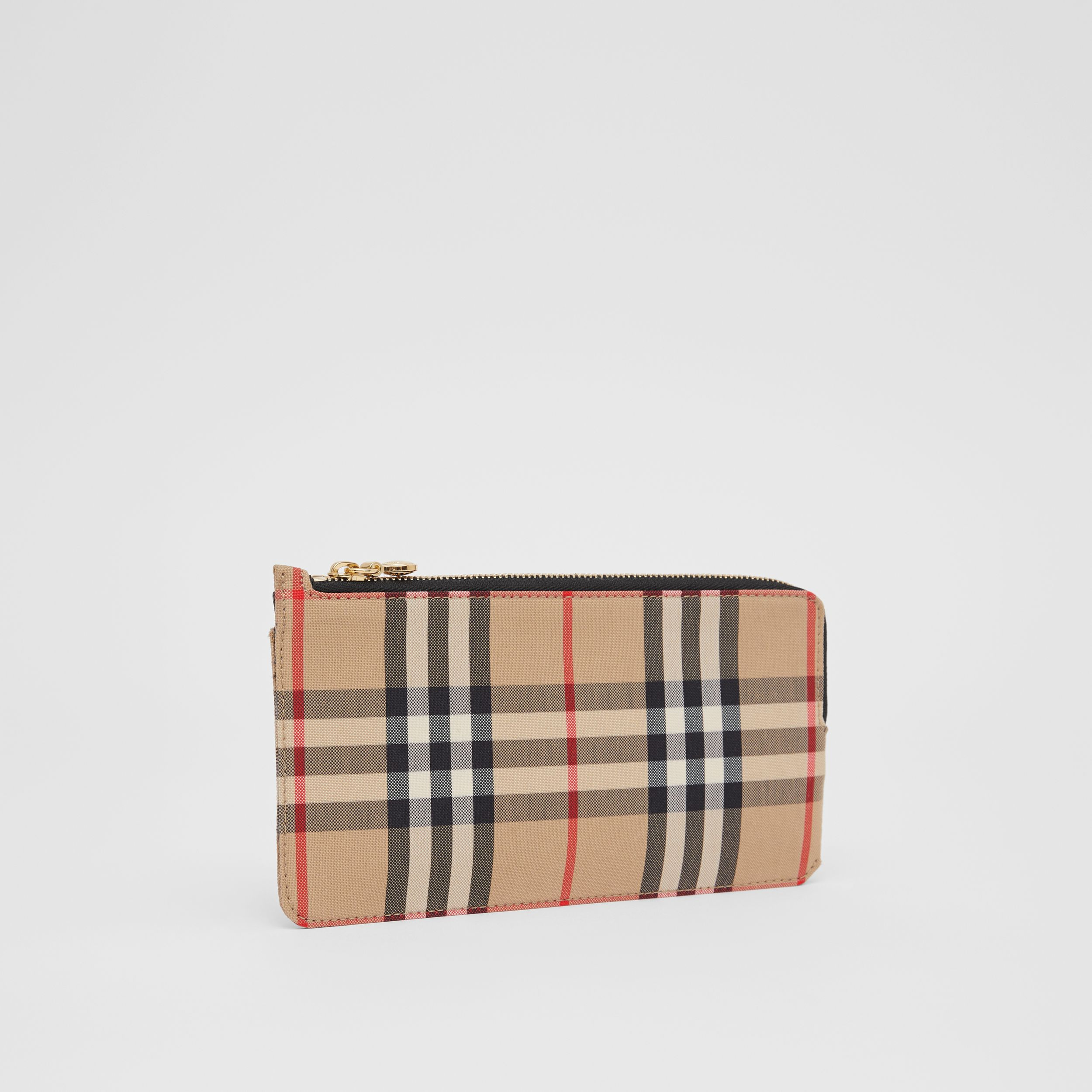 Vintage Check and Leather Phone Wallet in Black - Women | Burberry - 4