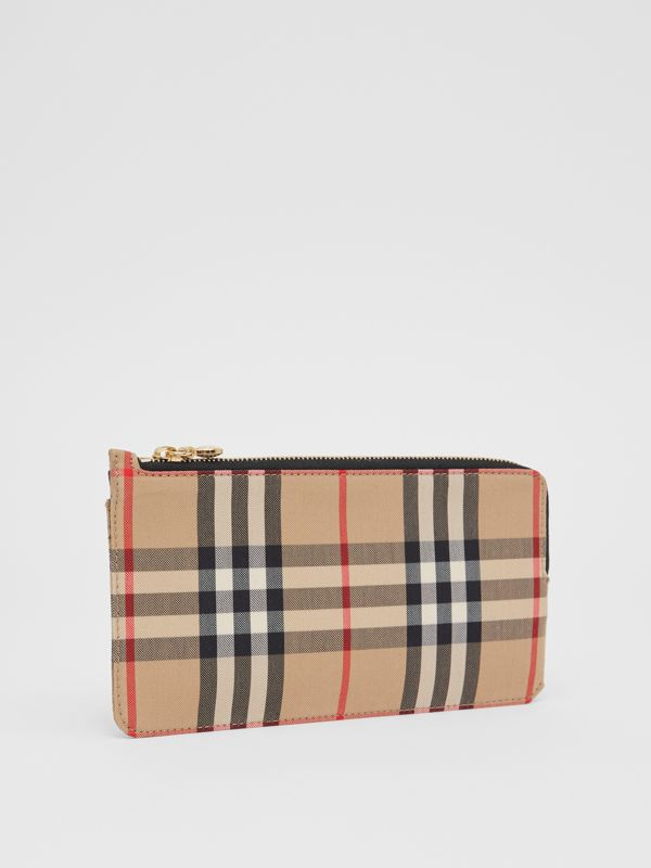 Vintage Check and Leather Phone Wallet in Black - Women | Burberry Hong Kong S.A.R - cell image 3