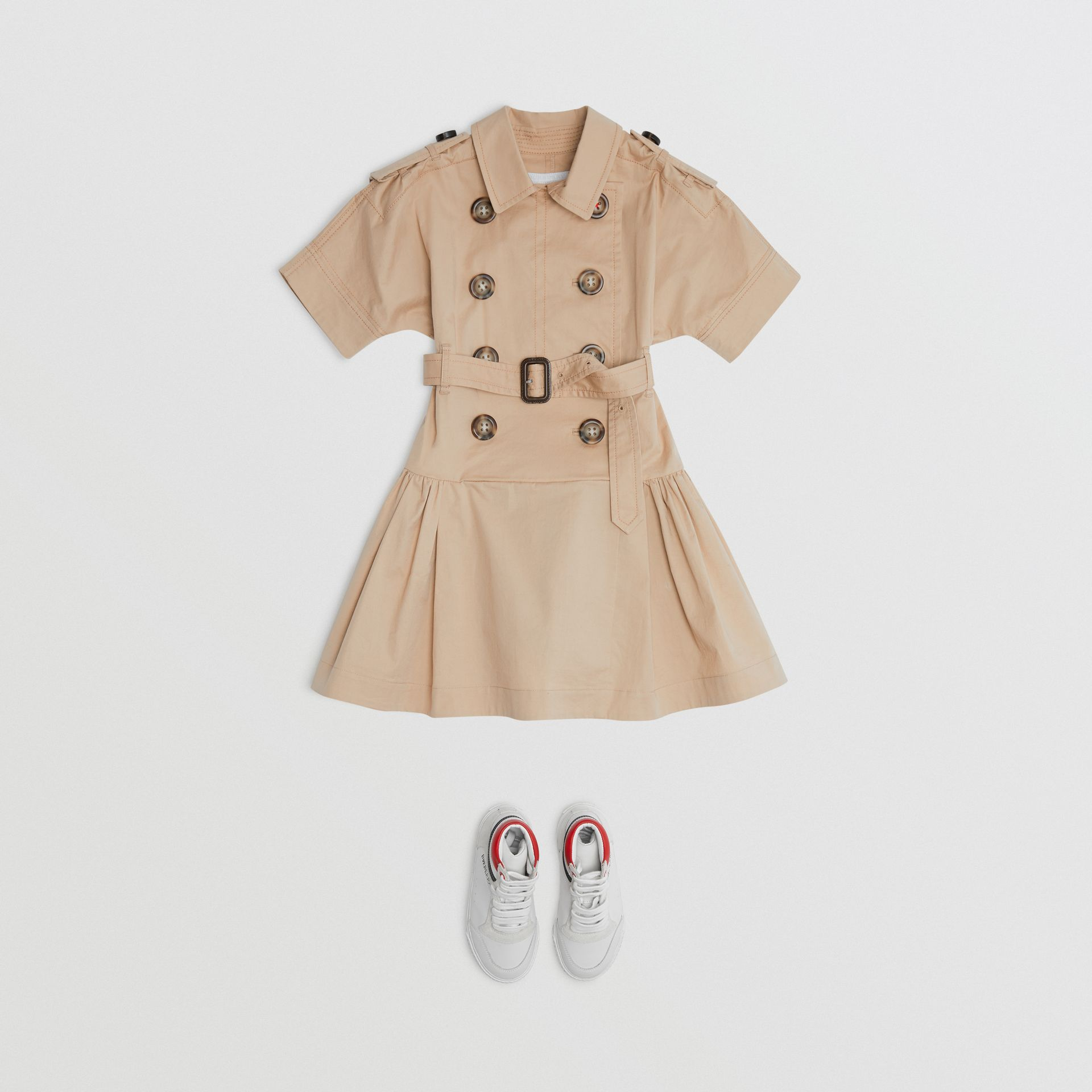 Robe trench en coton stretch (Miel) | Burberry Canada - photo de la galerie 2