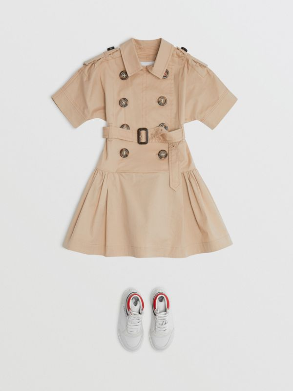 Robe trench en coton stretch (Miel) | Burberry Canada - cell image 2