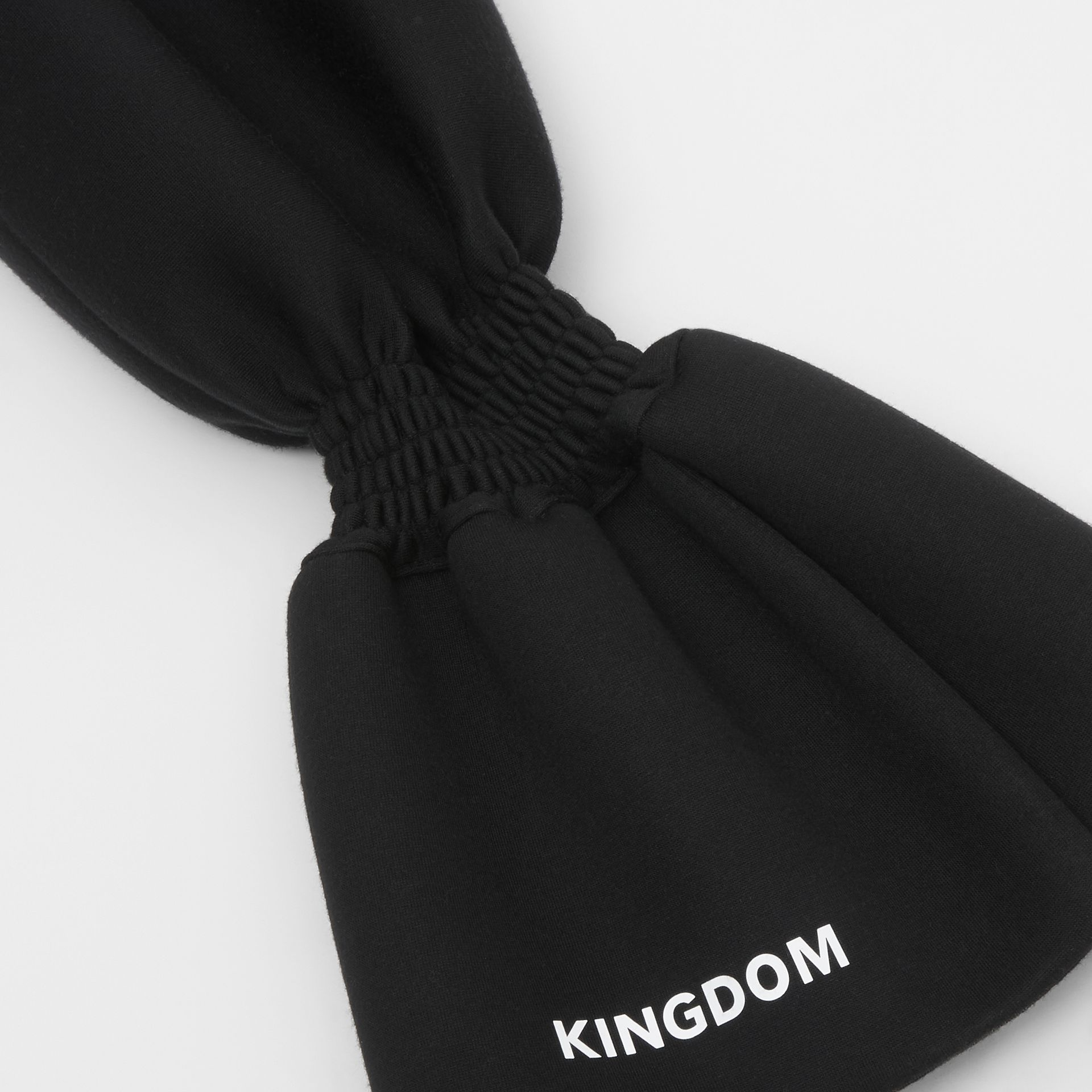 Kingdom Print Neoprene Puff Sleeves in Black - Women | Burberry - gallery image 9