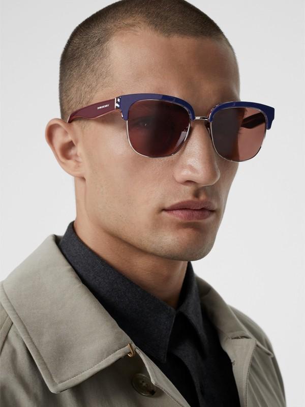 Sonnenbrille mit Karodetail (Blau) - Herren | Burberry - cell image 3