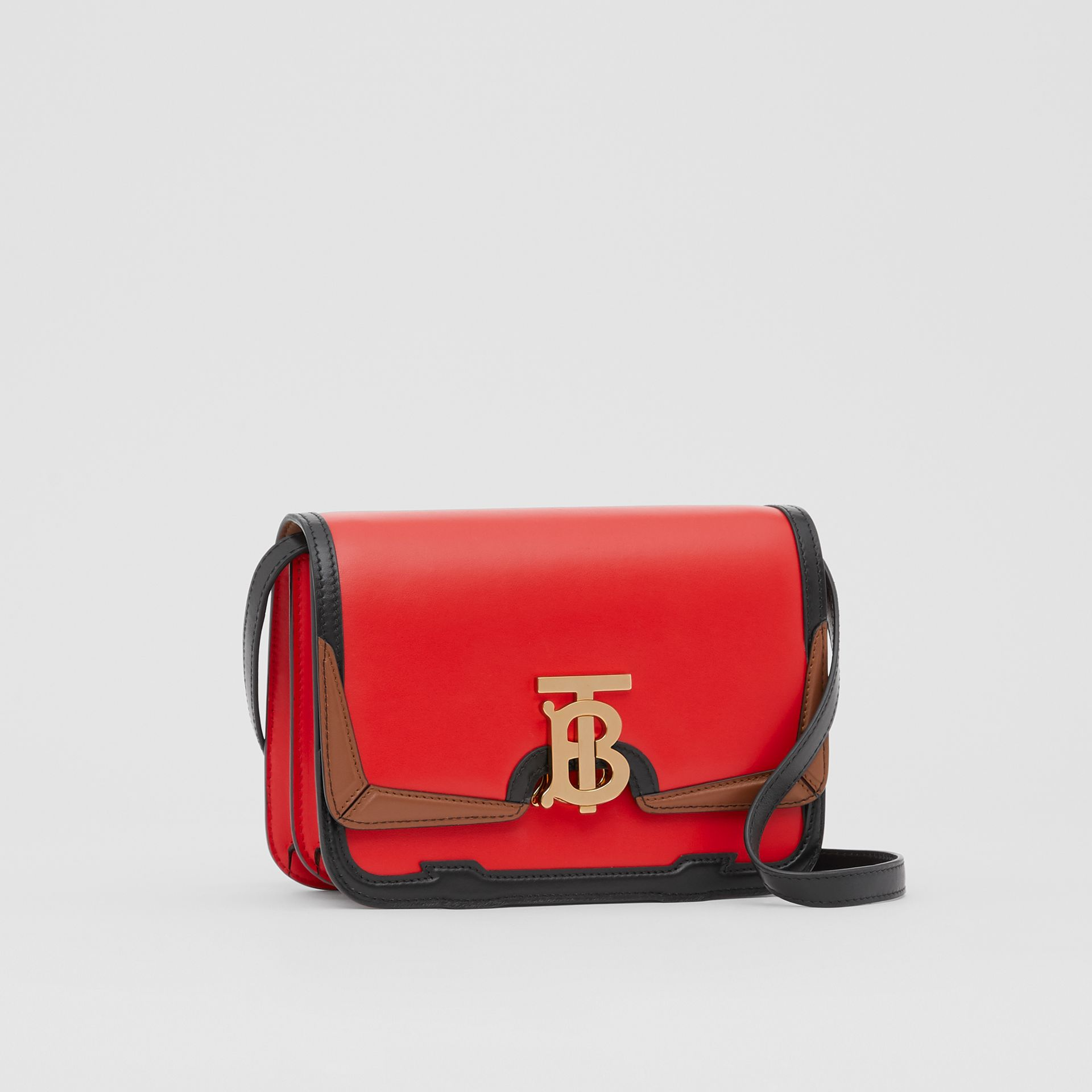 Small Appliqué Leather TB Bag in Bright Red - Women | Burberry United States - gallery image 6