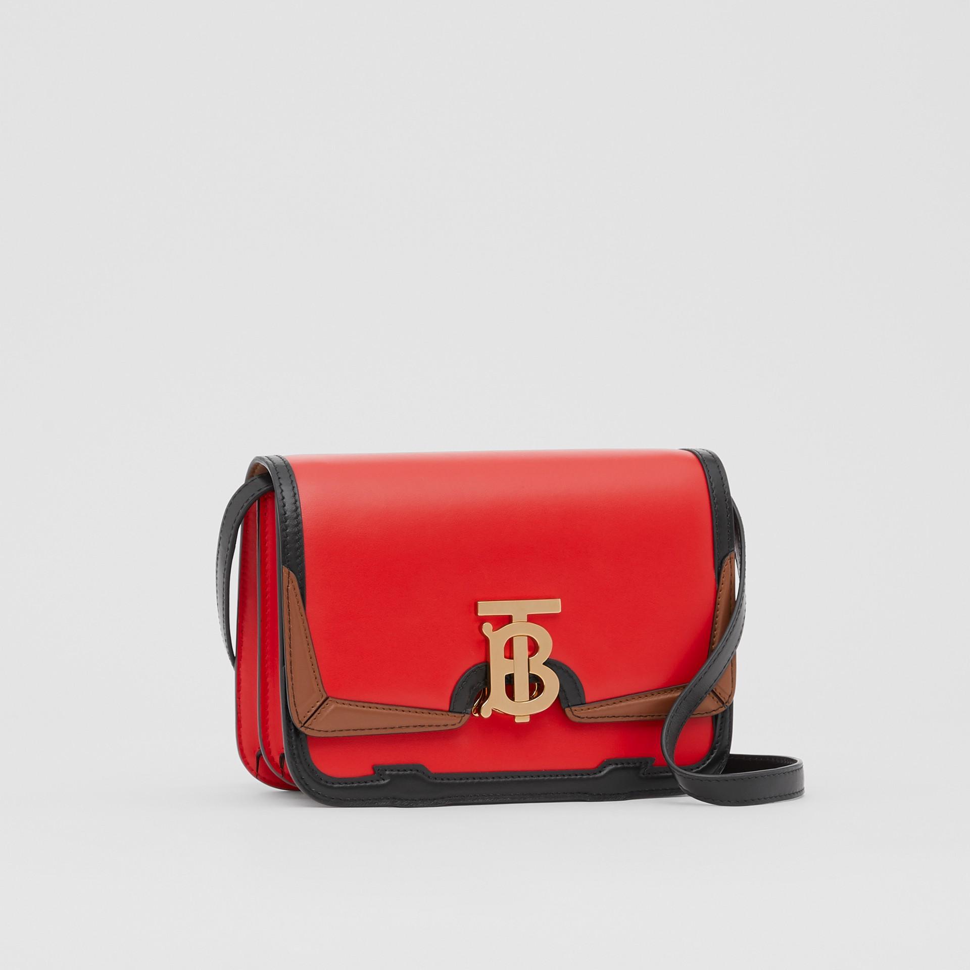 Petit sacTB en cuir avec appliqué (Rouge Vif) - Femme | Burberry - photo de la galerie 6