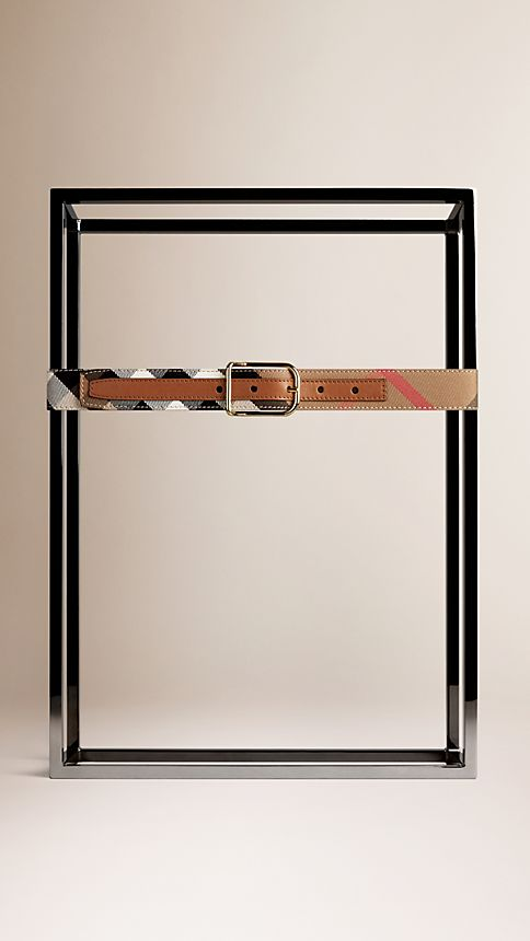 Tan House Check Belt - Image 2