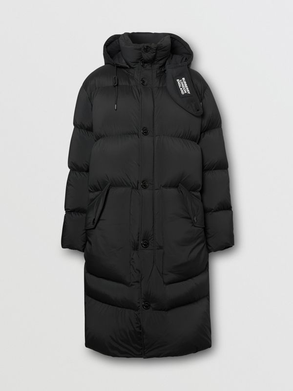 Detachable Hood Stretch Nylon Puffer Coat in Black - Men | Burberry United Kingdom - cell image 3