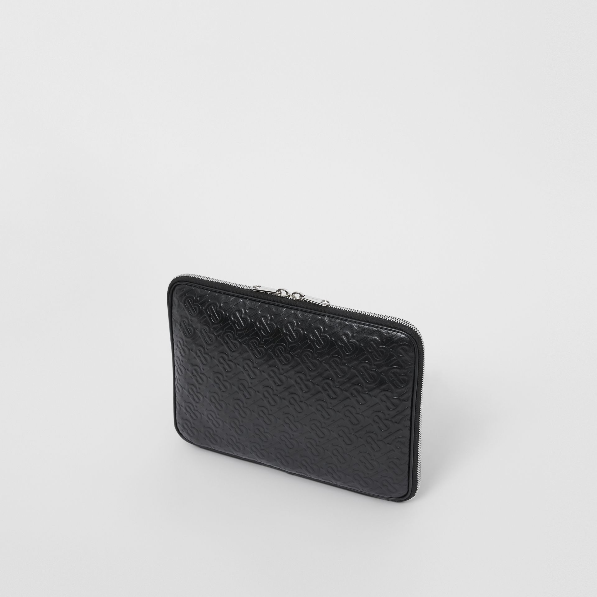 Monogram Leather Digital Case in Black - Men | Burberry Singapore - gallery image 2