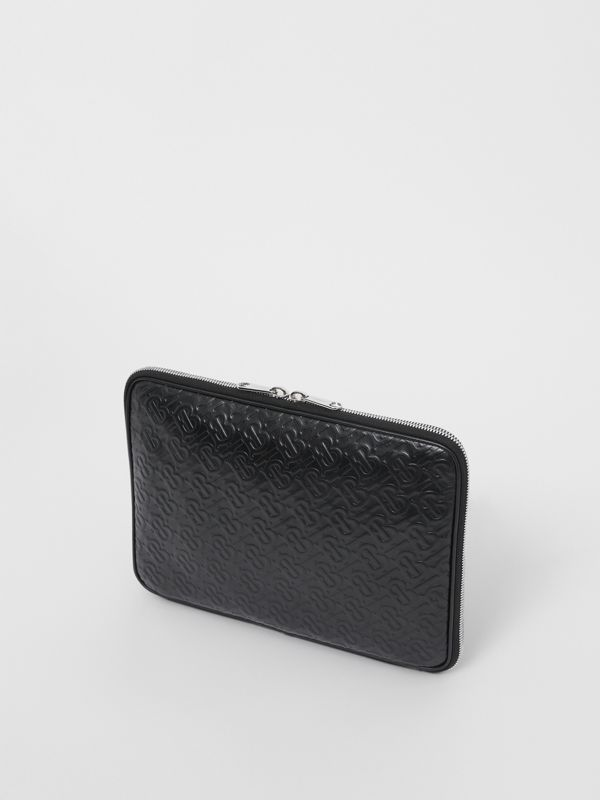 Monogram Leather Digital Case in Black - Men | Burberry Singapore - cell image 2