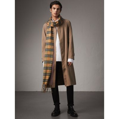 Burberry vintage check long cashmere scarf Cheap Visit Deals For Sale Professional For Sale Discount Collections LhxYSmo7