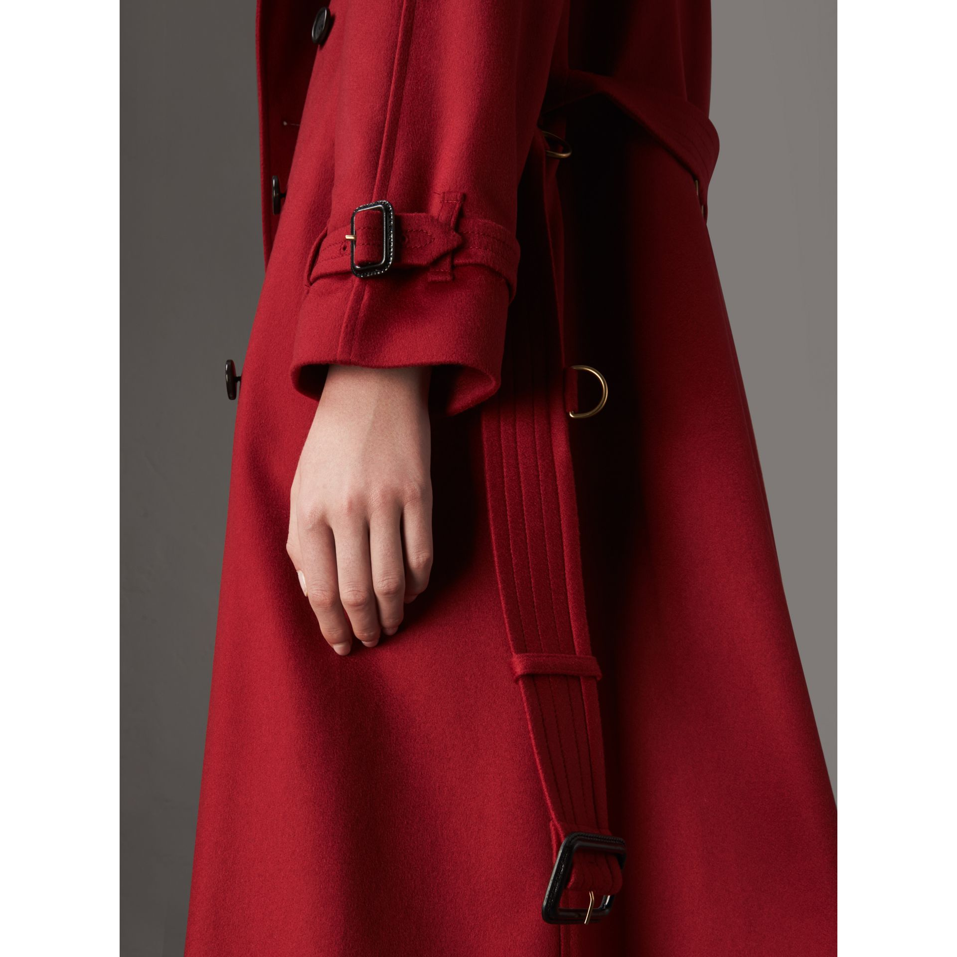 Cashmere Trench Coat in Parade Red - Women | Burberry - gallery image 1