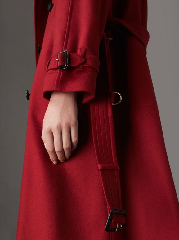 Cashmere Trench Coat in Parade Red - Women | Burberry Australia - cell image 1